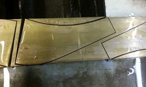 MSG-elbow after waterjet cutting